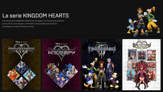 Kingdom Hearts PC Epic Games Store descuento Disney+