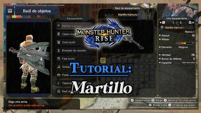 Martillo en Monster Hunter Rise: Tutorial y combos
