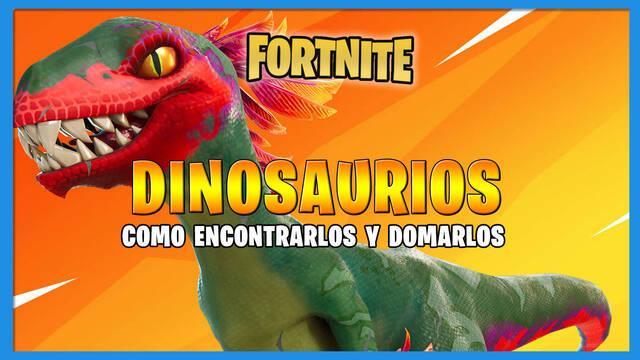 Dinosaurios en Fortnite: Cómo domarlos y localización