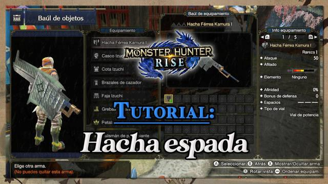 Hacha espada en Monster Hunter Rise: Tutorial y combos