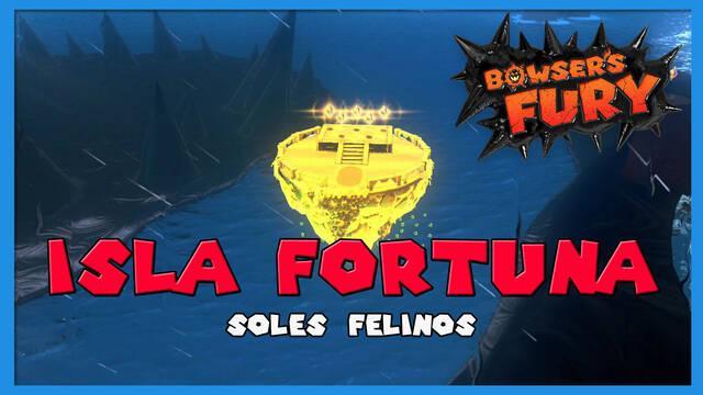 TODOS los Soles felinos de Isla Fortuna en Bowser's Fury