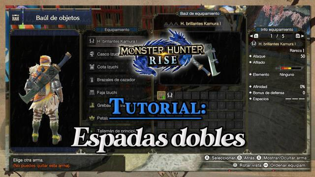Espadas dobles en Monster Hunter Rise: Tutorial y combos