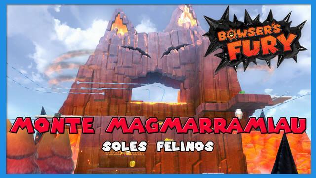TODOS los Soles felinos de Monte Magmarramiau en Bowser's Fury