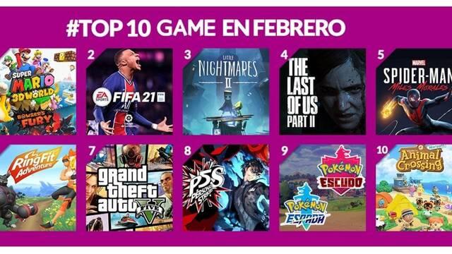 Game más vendidos de febrero 2021