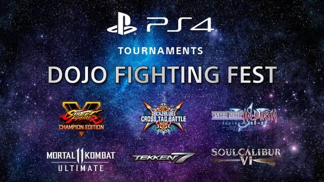 Dojo Fighting Fest, un torneo de juegos de lucha de PS4.