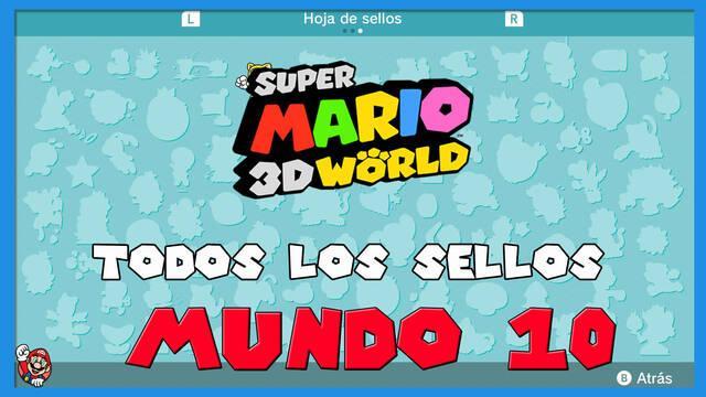 Super Mario 3D World: TODOS los sellos del Mundo 10
