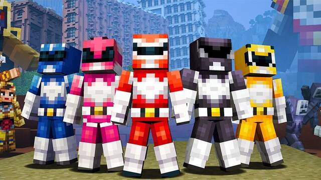 Ya puedes disfrazarte de Power Ranger en Minecraft