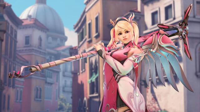 Overwatch crea el aspecto 'Mercy rosa' para luchar contra el cáncer de mama