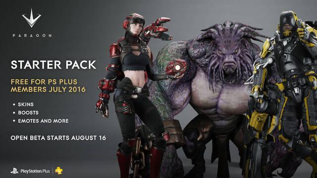 El 'Starter Pack' de Paragon será gratuito para los miembros de PS Plus en julio