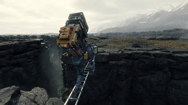 Death Stranding homenajea a Donkey Kong con una de sus mecánicas