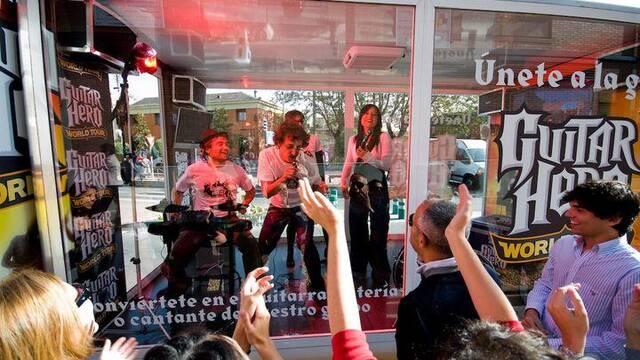 Un camión de Guitar Hero recorrerá Madrid y Barcelona