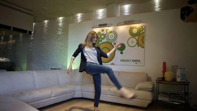 La modelo Martina Klein prueba Project Natal en España
