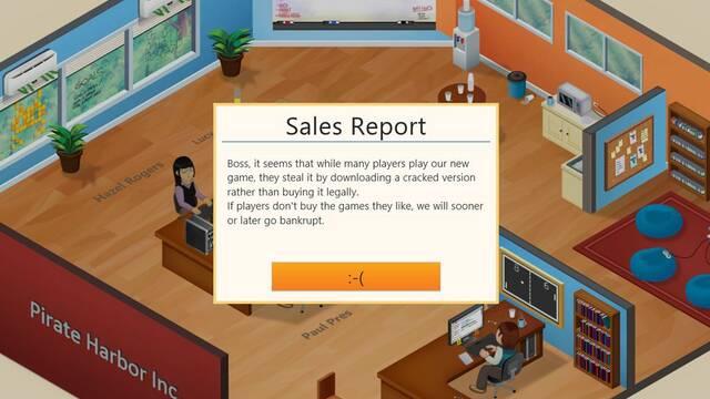 Game Dev Tycoon consigue que los piratas se quejen de la piratería