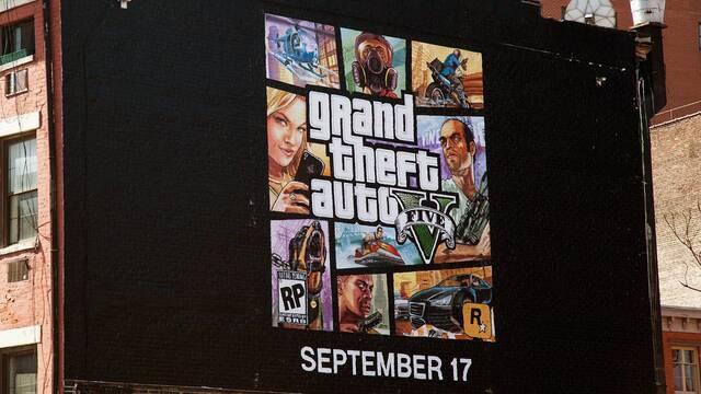 Completado el mural con la portada de Grand Theft Auto V