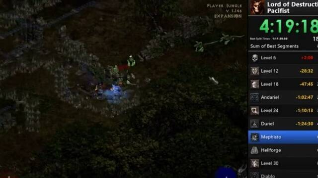 Finaliza Diablo II en menos de 8 horas y sin atacar a nadie