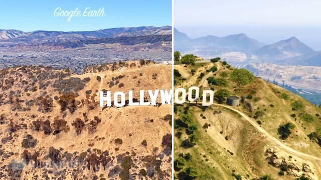 Comparan en vídeo Los Santos de GTA V con Los Ángeles en Google Earth