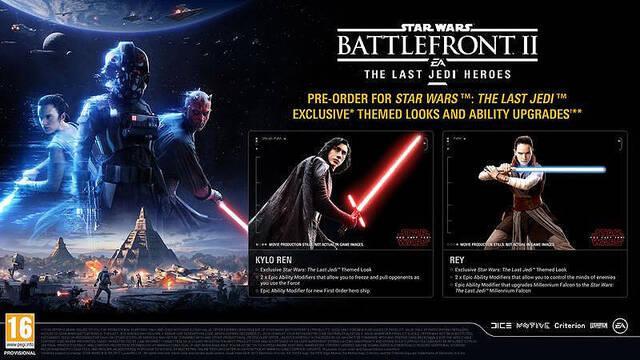 Reveladas las apariencias de Los últimos Jedi en Star Wars Battlefront II