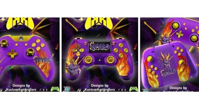 Kustom Kontrollerz presenta mandos con diseños inspirados en Spyro