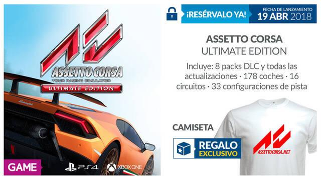 GAME detalla su incentivo por reserva para Assetto Corsa Ultimate Edition