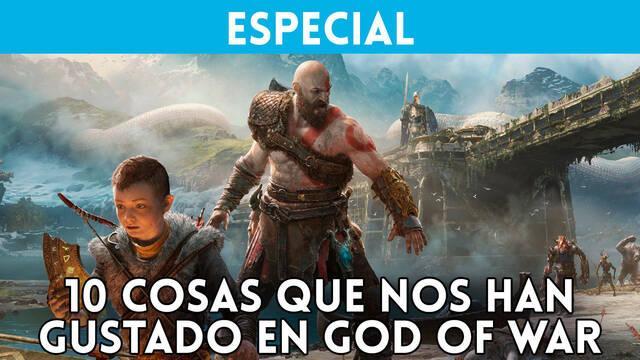Repasamos en vídeo las 10 cosas que más nos han gustado de God of War