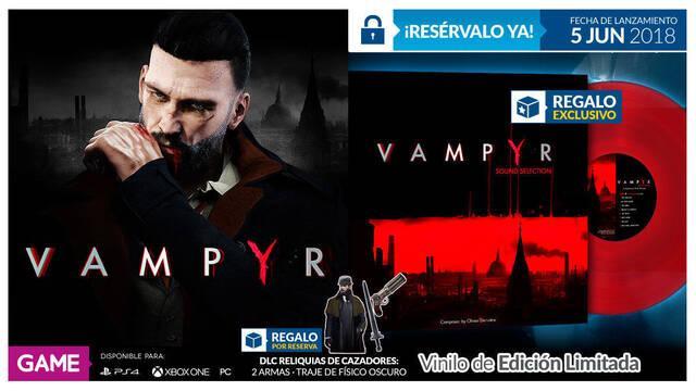 Reserva Vampyr en GAME y hazte con su banda sonora de regalo