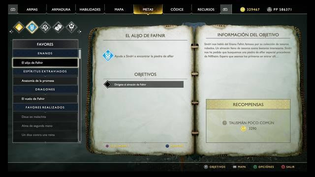 El alijo de Fafnir en God of War (PS4)