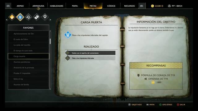 Carga muerta en God of War (PS4)