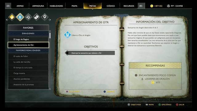 Aprisionamiento de Otr en God of War (PS4)