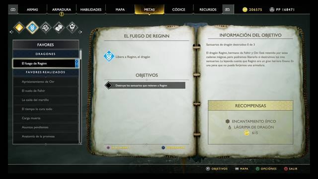 El fuego de Reginn en God of War (PS4)