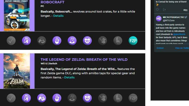 Abre una web que recopila información de los juegos con microtransacciones