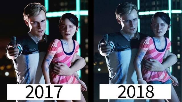 Comparan los gráficos de Detroit: Become Human de 2017 y 2018