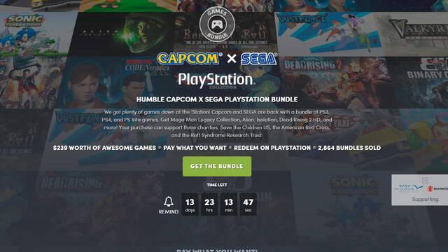 El nuevo Humble Bundle está dedicado a Capcom y Sega en PlayStation