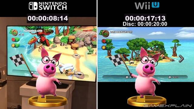 Comparan los tiempos de carga en DKC: Tropical Freeze de Wii U y Switch