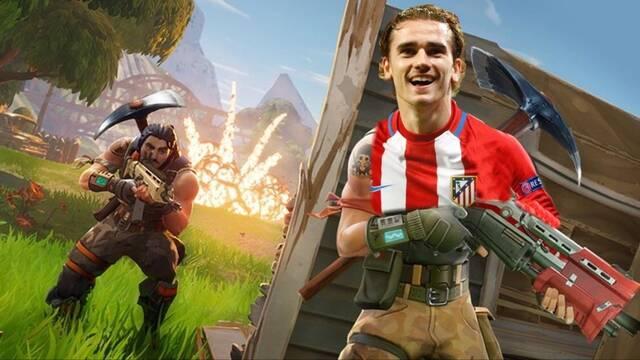 Griezmann celebra un gol homenajeando al videojuego Fortnite