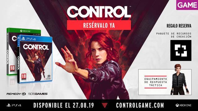 GAME detalla los incentivos por la reserva de Control, lo nuevo de Remedy