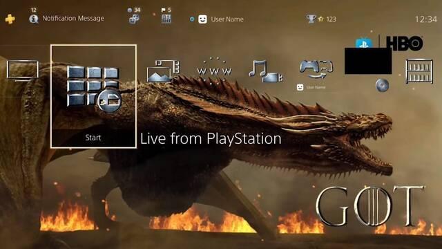 Sony regala un tema para PS4 de Juego de Tronos para celebrar la 8ª temporada