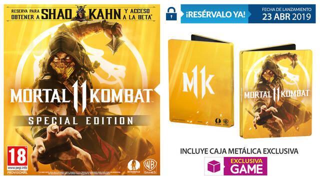 GAME detalla sus ediciones y contenidos exclusivos para Mortal Kombat 11