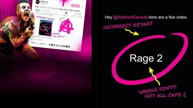 Rage 2: Walmart ofrece un extra por las reservas del juego que bromea con su filtración