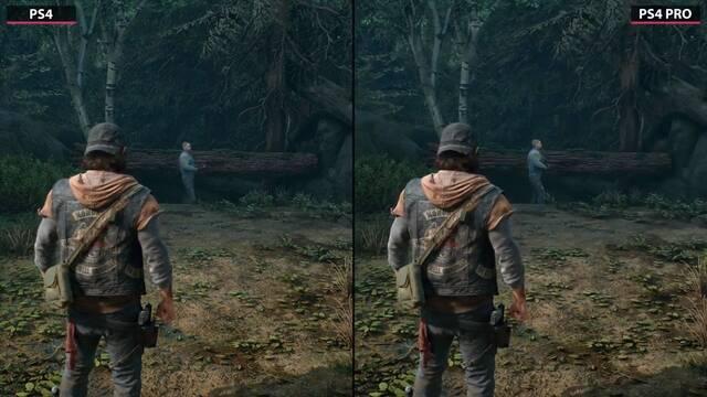 Comparan el rendimiento y detalle de Days Gone en PS4 y PS4 Pro