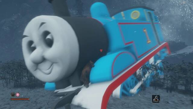 Un divertido mod de Sekiro sustituye a la Gran Serpiente por Thomas el Tren
