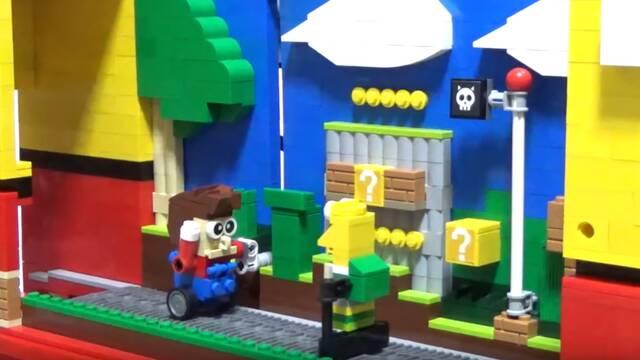 Crean un juego de Super Mario con piezas de LEGO