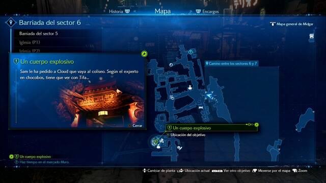 Un cuerpo explosivo en Final Fantasy VII Remake - Cómo completarla