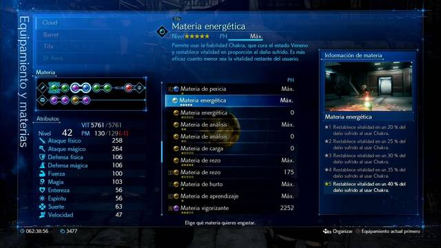 TODAS las materias de habilidad en Final Fantasy VII Remake y cómo conseguirlas