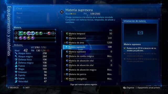 TODAS las materias de apoyo en Final Fantasy VII Remake y cómo conseguirlas