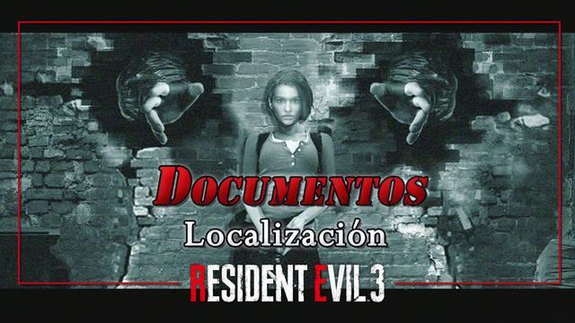 TODOS los Documentos en Resident Evil 3 Remake - Localización