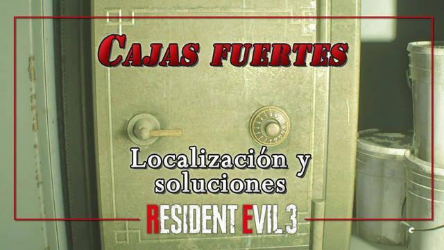 Cajas fuertes en Resident Evil 3 Remake: TODOS los códigos y contenido