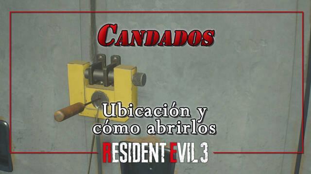 Resident Evil 3 Remake: Todos los candados, cerraduras y taquillas