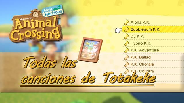 Desbloquear todas las canciones de Totakeke en Animal Crossing: New Horizons