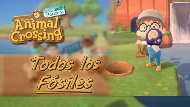 TODOS los fósiles y sus precios en Animal Crossing: New Horizons