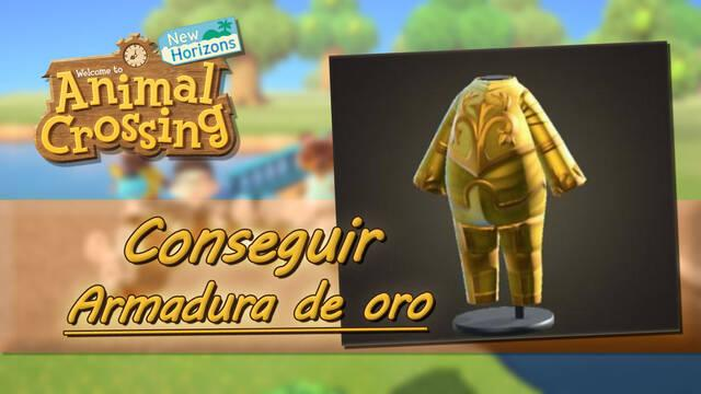 Cómo conseguir la armadura de oro en Animal Crossing: New Horizons